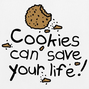 Cookies can save your life Borse - Borsa ecologica in tessuto