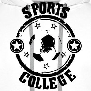 Sport college le football - Sweat-shirt à capuche Premium pour hommes