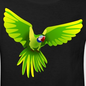 Ara fliegt grün - flying green Ara Kinder T-Shirts - Kinder Bio-T-Shirt