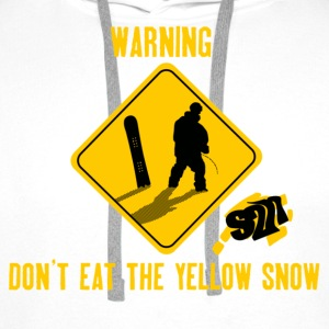 Don't Eat The Yellow Snow Felpa - Felpa con cappuccio premium da uomo