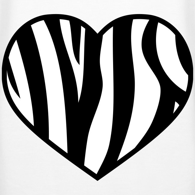 Pug luv x the heart of the Zebra