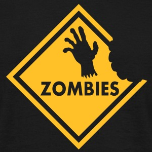 Zombies Sign T-Shirts - Men's T-Shirt