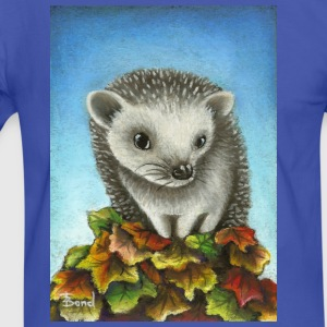 Hedgehog on a pile of leaves - Men's Ringer Shirt