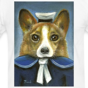 Corgi the sailor - Men's Ringer Shirt