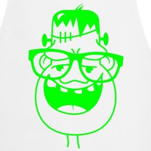 Frankenstein with nerd glasses  Aprons - Cooking Apron