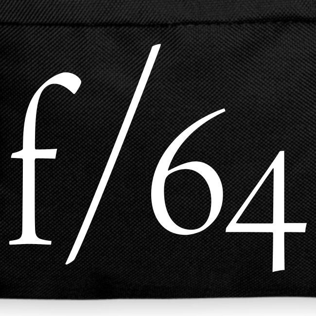 Sac à dos f/64 blanc/noir