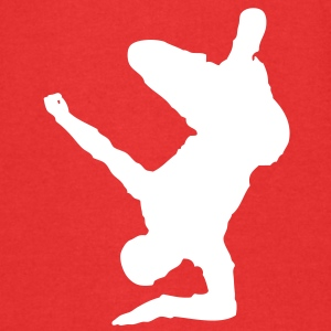 Breakdancer (on elbow) (Vector) - Kinder Premium Kapuzenjacke