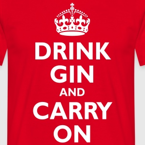 drink_gin_and_carry_on T-Shirts - Men's T-Shirt