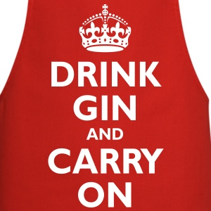 drink_gin_and_carry_on  Aprons - Cooking Apron