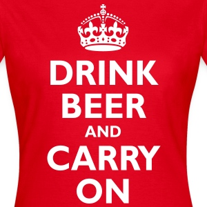 drink_beer_and_carry_on T-Shirts - Women's T-Shirt