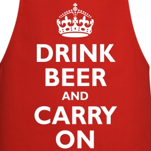 drink_beer_and_carry_on  Aprons - Cooking Apron