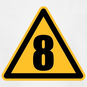 Warning 8 | Achtung 8 Kinder T-Shirts - Teenage T-shirt