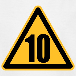Warning 10 | Achtung 10 Kinder T-Shirts - Teenager T-shirt