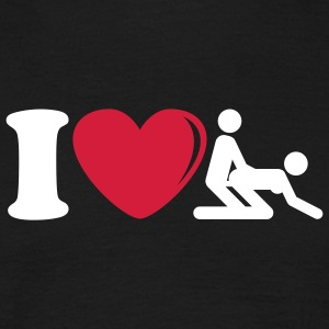 i_love_sex_2c T-shirts - Mannen T-shirt