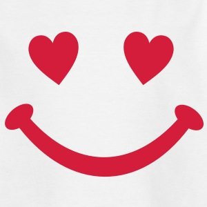 hjerte Smiley Smil Børne T-shirts - Teenager-T-shirt