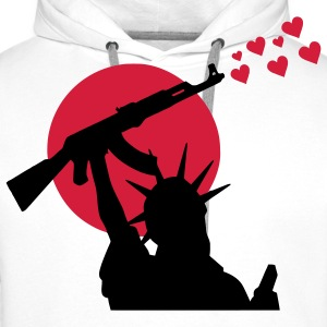 Statue of Liberty Statue of Liberty Ak-47 Weapon for Peace, War, War or Peace? Hoodies & Sweatshirts - Men's Premium Hoodie