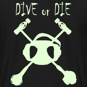 Dive Or Die Logo Phosphorescent - T-shirt Homme