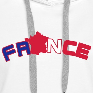 France, Freankreich, flag French flag and map Hoodies & Sweatshirts - Women's Premium Hoodie