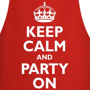 keep_calm_and_party_on  Aprons - Cooking Apron