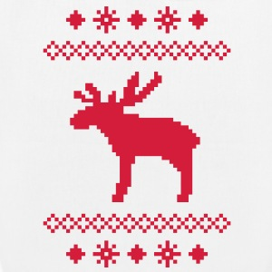 moose caribou reindeer deer christmas norwegian knitting pattern rudolph rudolf winter snowflake snow crystal frost snow flower Bags  - EarthPositive Tote Bag