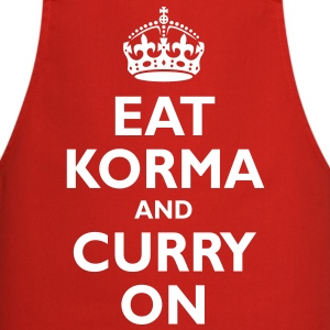 keep_korma_and_curry_on  Aprons - Cooking Apron