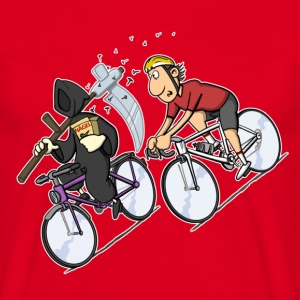 Red Downhill T-Shirts, Fahrrad T-Shirt - Men's T-Shirt