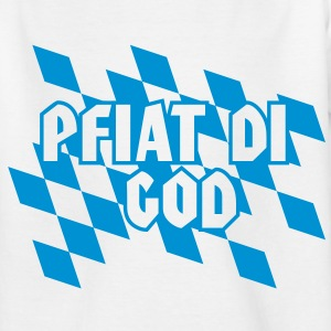 FREISTAAT BAYERN Farben - Pfiat Di God | Kindershirt - Teenager T-Shirt