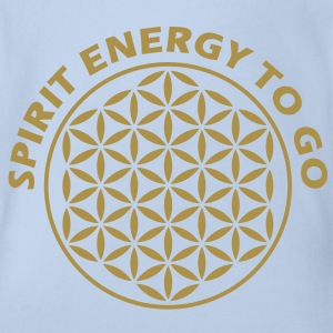 FLOWER OF LIFE / Blume des Lebens Stamp - Spirit Energy to go | Baby Body - Baby Bio-Kurzarm-Body