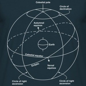 Celestial sphere - Men's T-Shirt