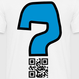 Question v2 - QR-code (2c, new) Tee shirts - Men's T-Shirt
