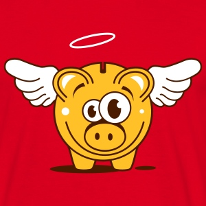 A piggy bank with wings and halo T-Shirts - Men's T-Shirt