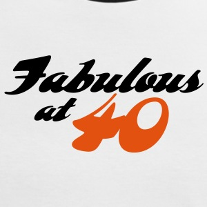 Fabulous At 40 (2c) T-Shirts - Women's Ringer T-Shirt