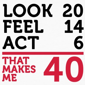 Look Feel Act 40 (2c)++ T-shirt - T-shirt ecologica da uomo