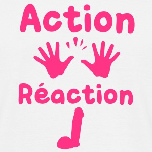 action reaction Tee shirts - T-shirt Homme