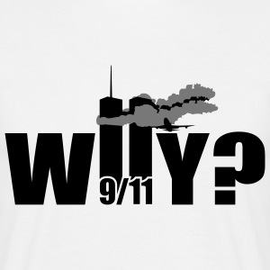 WHY | NY | World Trade Center | 9/11 T-Shirts - Maglietta da uomo