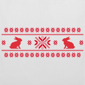 rabbits bunny hare cony leveret christmas norwegian pattern easter snowflake Bags  - Tote Bag