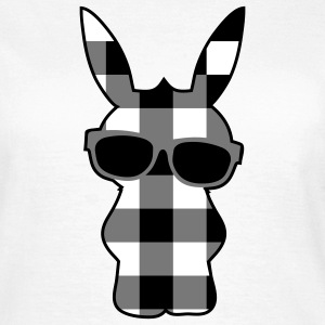 A cool checkered bunny with sunglasses T-Shirts - Women's T-Shirt