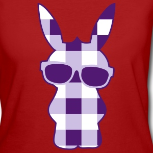 A cool checkered bunny with sunglasses T-Shirts - Women's Organic T-shirt
