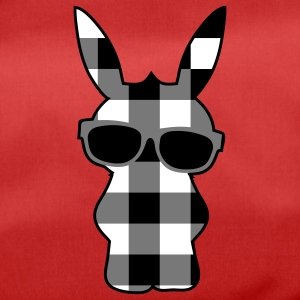 A cool checkered bunny with sunglasses Bags  - Duffel Bag