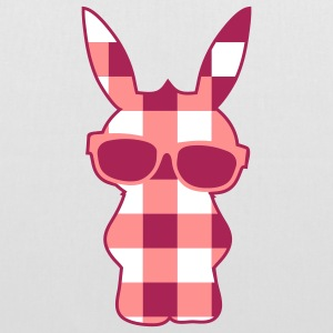 A cool checkered bunny with sunglasses Bags  - Tote Bag