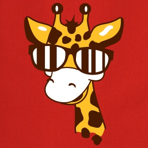 A giraffe with cool sunglasses  Aprons - Cooking Apron