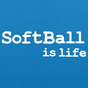 softball is life Borse - Borsa ecologica in tessuto