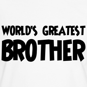 World's greatest brother - Kontrast-T-skjorte for menn