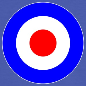 Great Britain France Europe Mod Target DigitalDirekt T-Shirts - Men's Ringer Shirt