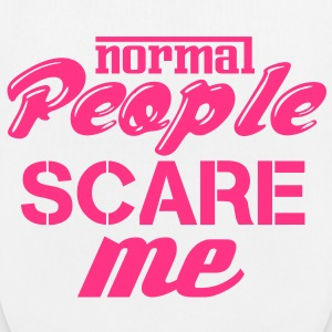 White Normal people scare me Bags & backpacks - EarthPositive Tote Bag