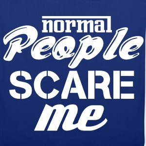 Bleu royal Normal people scare me Sacs et sacs à dos - Tote Bag