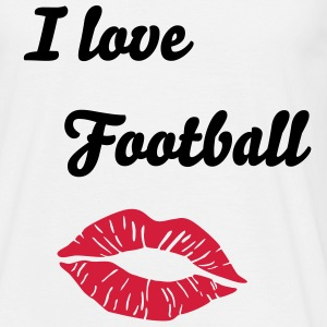 I love Football & Kiss T-Shirts - Men's T-Shirt