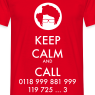 Diseño ~ Camiseta IT Crowd - Moss - Keep Calm and Call - chico manga corta