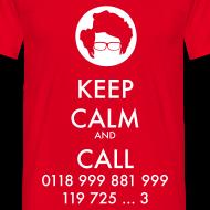Diseño ~ Camiseta IT Crowd - Moss - Keep Calm and Call - chico manga corta