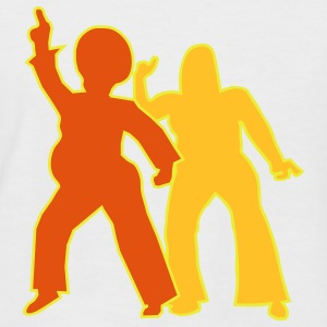 Disco King and Queen - Men's Baseball T-Shirt